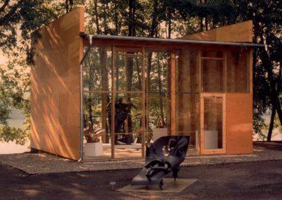 Pavillon für Ausstellung von Jean Ipousteguy, 1992